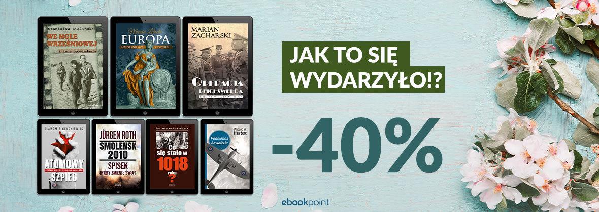 Promocja na ebooki HISTORIA [-40%]